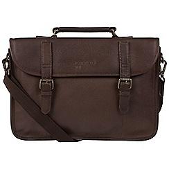Portobello W11 - Hickory 'Gibson' buffalo leather briefcase