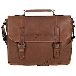 Portobello W11 - Walnut 'Hugh' buffalo leather briefcase