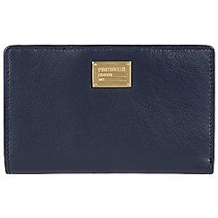 Portobello W11 - Navy 'Angie' RFID 9-card leather purse