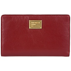 Portobello W11 - Red 'Angie' RFID 9-card leather purse