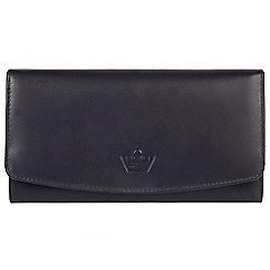 Portobello W11 - Navy 'Joy' real leather RFID purse