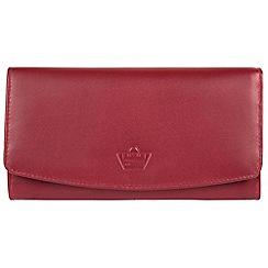 Portobello W11 - Red 'Joy' real leather RFID purse