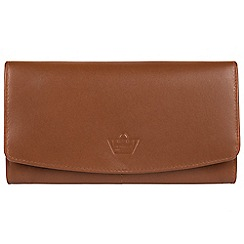Portobello W11 - Tan 'Joy' real leather RFID purse