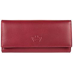 Portobello W11 - Red 'Luna' fine leather RFID purse