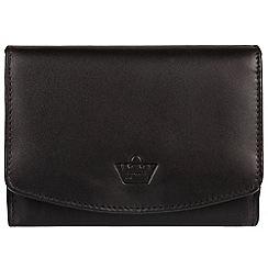 Portobello W11 - Black 'Star' natural leather RFID purse