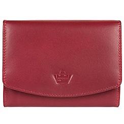 Portobello W11 - Red 'Star' natural leather RFID purse
