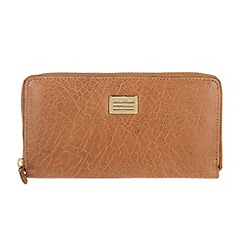Portobello W11 - Tan 'Marie' zip-round leather purse