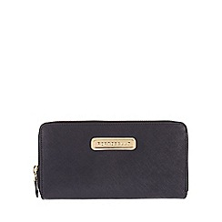 Portobello W11 - Navy 'Christina' Saffiano real leather purse