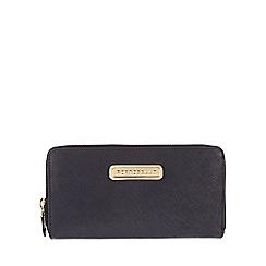Portobello W11 - Navy 'Christina' Saffiano leather purse