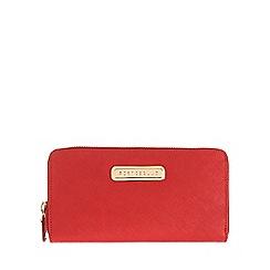 Portobello W11 - Poppy red 'Christina' Saffiano leather purse