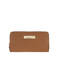 Portobello W11 - Tan 'Christina' Saffiano leather purse