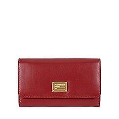 Portobello W11 - Red 'Leyla' RFID 8-card leather purse