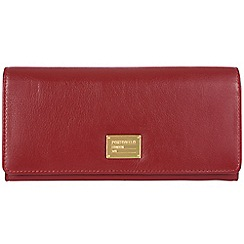 Portobello W11 - Red 'Elecktra' RFID 14-card leather purse