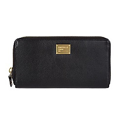 Portobello W11 - Black 'Meagan' RFID 8-card leather purse