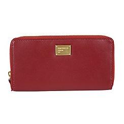 Portobello W11 - Red 'Meagan' RFID 8-card leather purse