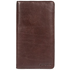 Portobello W11 - Dark brown 'Airport' leather RFID passport travel wallet