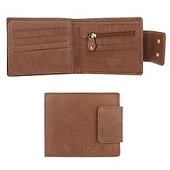 Portobello W11 - Bombay tan 'Milsy' bi-fold leather wallet