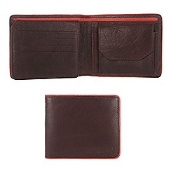 Portobello W11 - Dark brown 'Barty' leather wallet