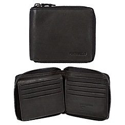 Portobello W11 - Black 'Sergio' RFID 12-card leather wallet