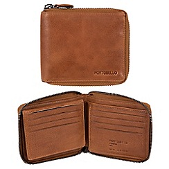 Portobello W11 - Tan 'Sergio' RFID 12-card leather wallet