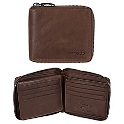 Portobello W11 - Brown 'Sergio' RFID 12-card leather wallet