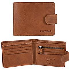Portobello W11 - Tan 'Marshall' RFID 10-card leather wallet