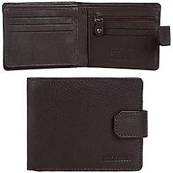 Portobello W11 - Dark brown 'Marshall' RFID 10-card leather wallet