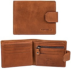 Portobello W11 - Tan 'Marshall' RFID 10-card leather wallet