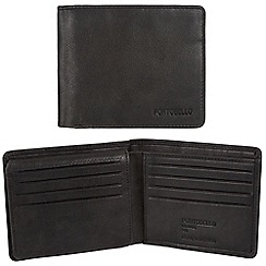 Portobello W11 - Black 'Parker' RFID 12-card leather wallet
