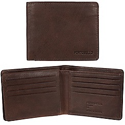 Portobello W11 - Brown 'Parker' RFID 12-card leather wallet