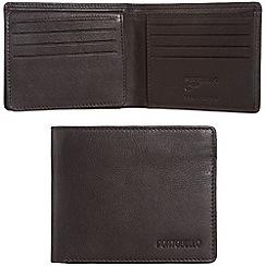 Portobello W11 - Dark brown 'Parker' RFID 12-card leather wallet