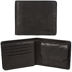 Portobello W11 - Black 'Boyd' RFID 12-card leather wallet