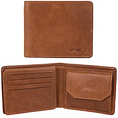 Portobello W11 - Tan 'Boyd' RFID 12-card leather wallet