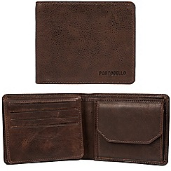 Portobello W11 - Brown 'Boyd' RFID 12-card leather wallet
