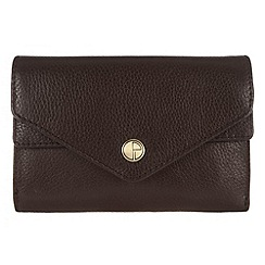 Pure Luxuries London - Brown 'Salisbury' natural leather purse