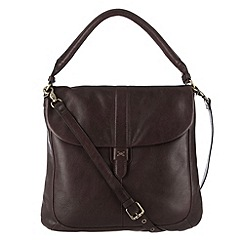 Made by Stitch - Cocoa 'Faye' leather shoulder bag