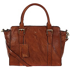 Made by Stitch - Cognac 'Scarlett' handmade leather bag