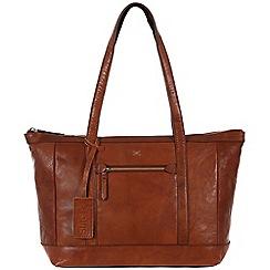 Made by Stitch - Cognac 'Ellis' handmade leather bag