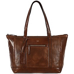 Made by Stitch - Natural veg-tanned 'Ellis' handmade leather bag