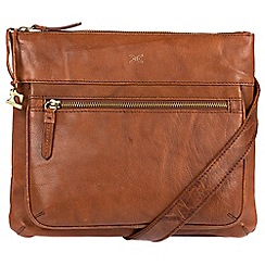 Made by Stitch - Cognac 'Victoria' handmade leather cross-body bag