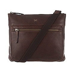 Made by Stitch - Espresso 'Victoria' handmade pebbled hide leather bag