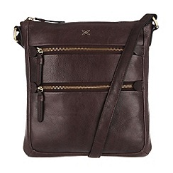 Made by Stitch - Cocoa 'Paloma' leather small cross-body bag