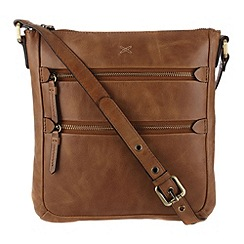 Made by Stitch - Butterscotch 'Paloma' leather small cross-body bag