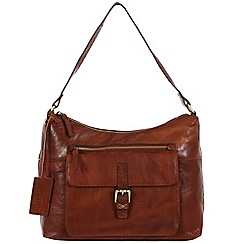 Made by Stitch - Cognac 'Laura' handmade leather bag
