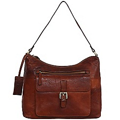 Made by Stitch - Treacle 'Laura' handmade distressed leather small bag