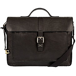 Made by Stitch - Black 'Faith' cross-body leather satchel