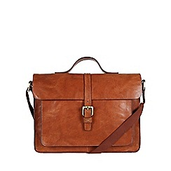 Made by Stitch - Cognac 'Faith' handmade leather satchel
