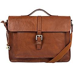 Made by Stitch - Cognac 'Faith' cross-body leather satchel