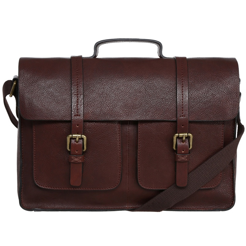 Made by Stitch Espresso 'garsdale' Handmade Leather Satchel, Men's, Brown.