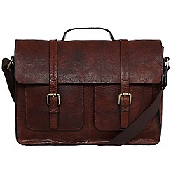 Made by Stitch - Treacle 'Garsdale' handmade vintage leather laptop satchel